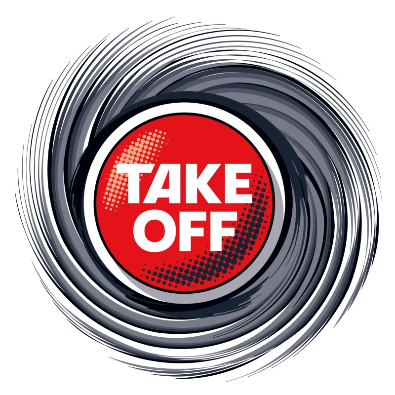 TAKE OFF Logo Swirl PMS