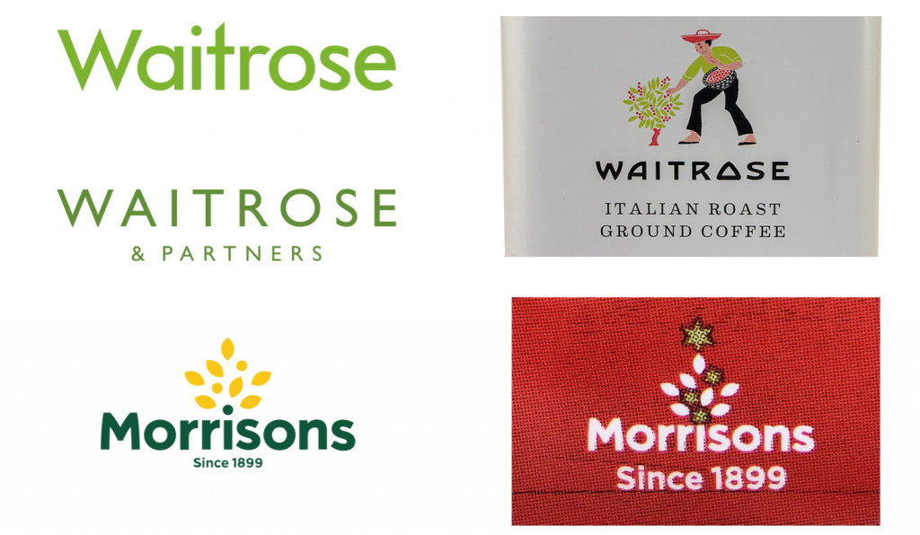 Logos Waitrose and Morrisons